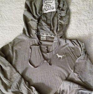 Vs Pink Grey lounge sweatshirt/pullover